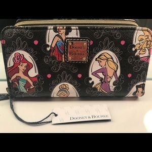 Disney dooney runway princess zip around wallet
